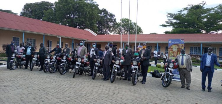Bunyoro Kitara Kingdom procures motorcycles for County Chiefs to ease implementation of activities.